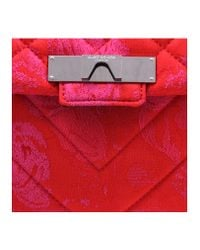 Kurt Geiger - Fabric Kensington Bag In Red Other - Lyst
