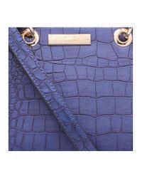 Carvela Kurt Geiger - Dea2 Croc Mini Tote In Blue Dark - Lyst