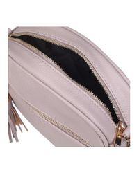 Carvela Kurt Geiger Gray Sophia Tassel Xbody Grey Combination Handbag