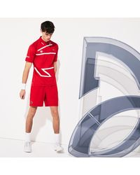 Lacoste Red Sport Roland Garros X Novak Djokovic Shorts for men