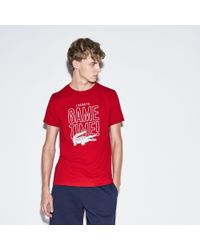 c9cba409d6 Men's Red Sport Game Time Crew Neck Jersey Tennis T-shirt