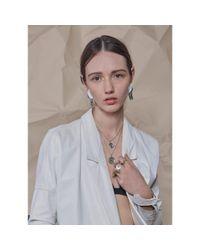 Lady Grey - Metallic Palette Necklace In Rhodium - Lyst