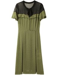 Toga Pulla Green Paisley Georgette Dress
