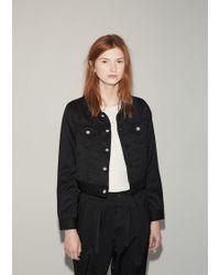 Comme des Garçons Black Wool Gabardine Cropped Jacket