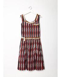 Undercover Red Keyboard Printed Silk Dress