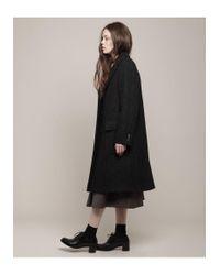 Margaret Howell Black Patch Pocket Overcoat