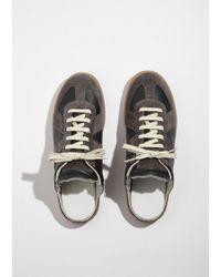 Maison Margiela - Black Replica Suede Slip-on Sneakers - Lyst