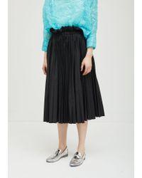 Ter Et Bantine Black Cotton Pleated Skirt