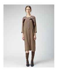 A Detacher - Brown Alpaca Knee Socks - Lyst