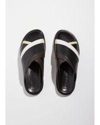 Marni Gray Fussbett Sandal