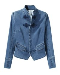 Boy by Band of Outsiders Blue Peplum Jean Jacket