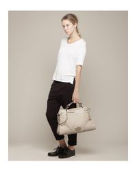 Mulberry White Oversized Taylor Satchel