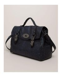 Mulberry Blue Oversized Buckle Bag