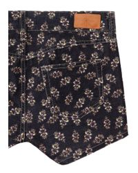 Étoile Isabel Marant Multicolor Ivy Printed Corduroy Shorts