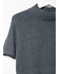 Rachel Comey Blue Cropped Sweater Tee