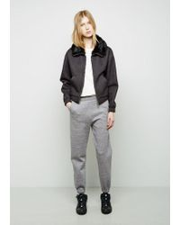 3.1 Phillip Lim Gray Sweatpant With Pointed Stitch Waistband