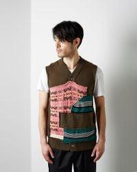 Comme des Garçons Multicolor Patchwork Vest for men