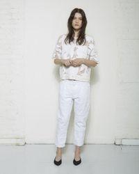 Isabel Marant - White Steffie Origami Boyfriend Jeans - Lyst