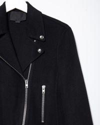 Alexander Wang - Blue Wool-blend Moto Jacket - Lyst