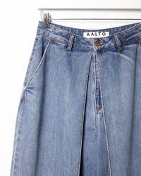 AALTO Blue Front Pleat Jeans