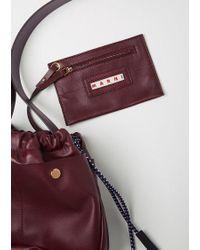 Marni Multicolor Ruched Petite Shoulder Bag
