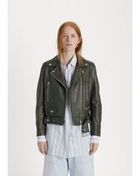 Acne - Multicolor Mock Leather Jacket - Lyst