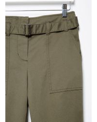 3.1 Phillip Lim Green Utility Cropped Pant