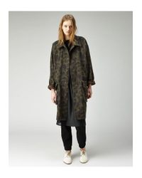 Organic By John Patrick Multicolor Oversize Camo Coat