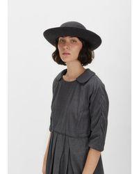 Comme des Garçons Gray Scha Wide Brim Wool Hat