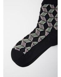 Issey Miyake - Black Facet Socks for Men - Lyst