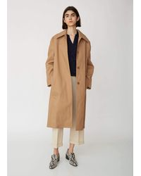 Acne Brown Onna Bonded Mac Coat