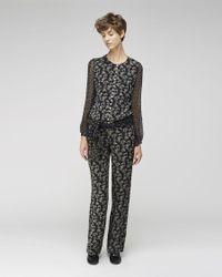 Étoile Isabel Marant Black Pacey Bilitis Print Jumpsuit
