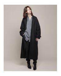 Henrik Vibskov Black Oversized 'mmm' Coat