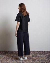 Alexander Wang - Black Boxy Pinstriped Tee - Lyst