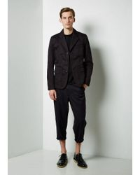 Comme des Garçons Black Cotton Gabardine Workstitch Jacket for men