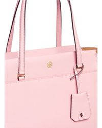Tory Burch - Pink Parker Leather Tote - Lyst