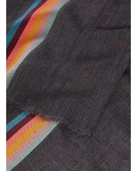 Paul Smith - Multicolor 'artist Stripe' Virgin Wool-silk Blend Scarf for Men - Lyst