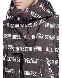 Sacai Multicolor 'vector' Slogan Print Hooded Parka for men