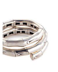 John Hardy - Metallic Silver Coil Ring - Lyst