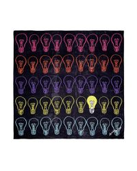 Anna Coroneo Multicolor 'light Bulbs Bella' Silk Chiffon Scarf