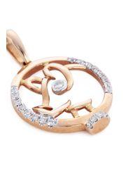 LC COLLECTION - Metallic Diamond 18k Rose Gold Chinese Zodiac Pendant - Pig - Lyst