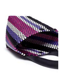 Truss Purple Mini Stripe Woven Pvc Bag