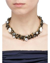 Erickson Beamon - Metallic 'dark Shadows' Swarovski Crystal Choker - Lyst
