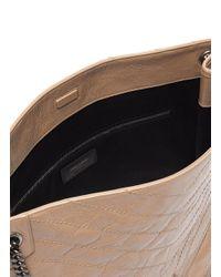 Saint Laurent Multicolor Niki' Domesticated Calf Leather Shopper Tote Bag