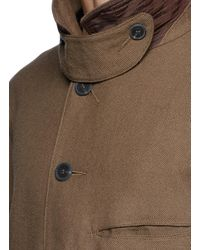 Ziggy Chen | Brown Graphic Patchwork Oversized Twill Coat for Men | Lyst