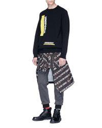 Sacai Black 'uniform' Print Sweatshirt for men