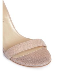Stuart Weitzman - Multicolor 'nunaked' Dotted Leather Sandals - Lyst