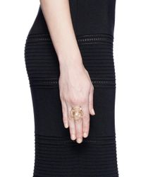 Phyne By Paige Novick - Metallic 'building Blocks' Diamond Pearl 18k Yellow Gold Ring - Lyst