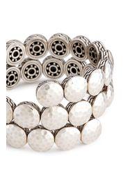 John Hardy - Metallic Silver Hammered Disc Coil Bracelet - Lyst