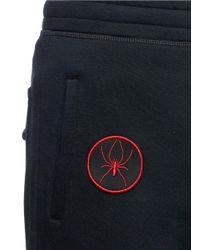 Lanvin Black Spider And Helmet Patch Sweatpants for men
